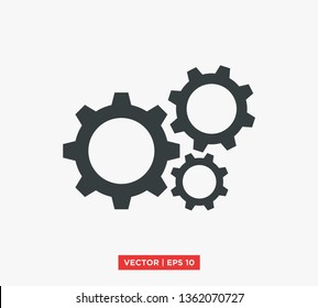 Gear Settings Icon Vector Illustration