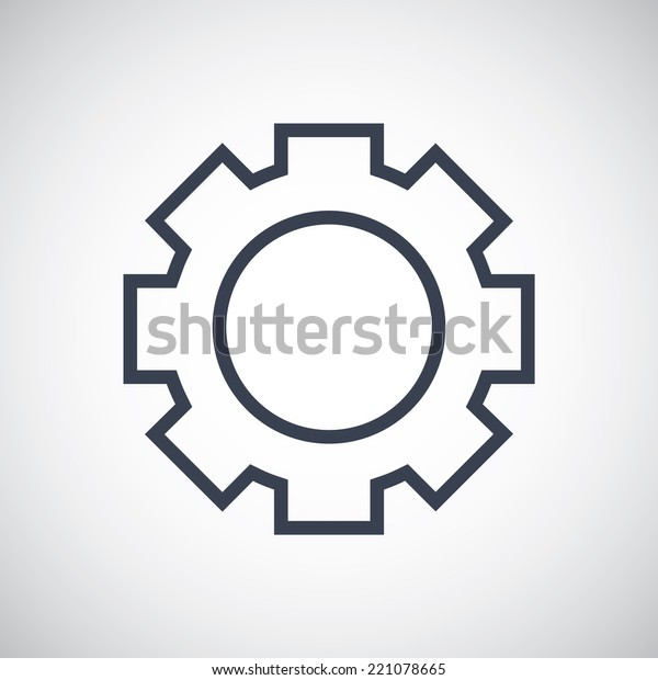 Gear Settings Options Symbol Icon Vector Stock Vector