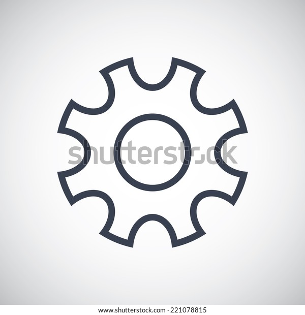 Gear Settings Options Symbol Icon Vector | Signs/Symbols