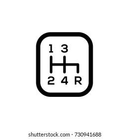 gear shift knob vector icon