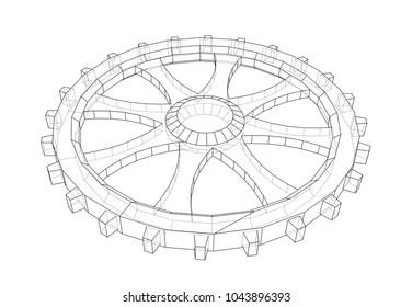 Vector Image Lightalloy Rims Stock Vector Royalty Free 590649095