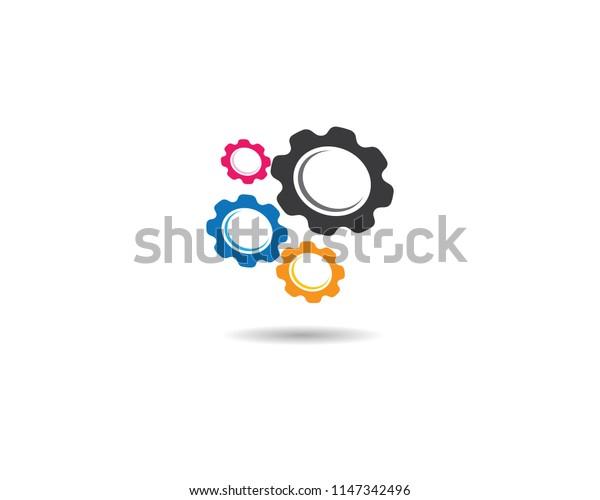 Gear symbol illustration