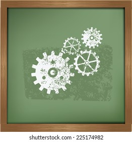 Gear symbol on background background, vector