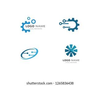 Gear technology Logo Template vector icon illustration design