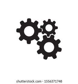 Gear Vector Icon. Continuous running gear Concept of organizational movement.white background