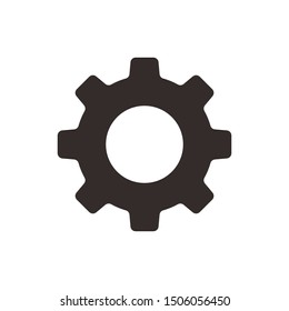 Gear vector icon isolated,cogs,Settings with flat style
