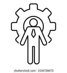 Gear wheel admin icon. Outline gear wheel admin vector icon for web design isolated on white background