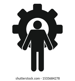 Gear wheel admin icon. Simple illustration of gear wheel admin vector icon for web design isolated on white background