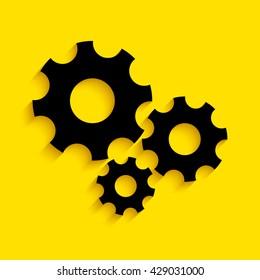 The gear wheel. Settings icon