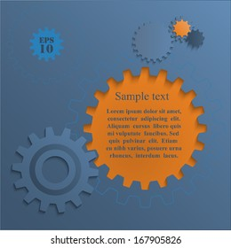 Gear wheels abstract background.  Infographic