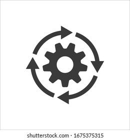 Gear workflow progress vector icon