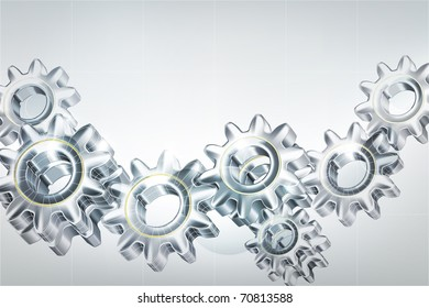 Gears background, 10eps