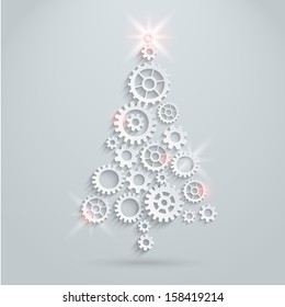 Gears Christmas tree