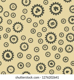 Gears and computer icons Abstract geometric pattern. Seamless vector EPS 10 pattern