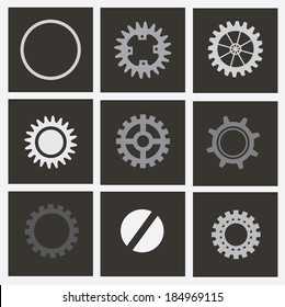 Gears design over gray background, vector illustration