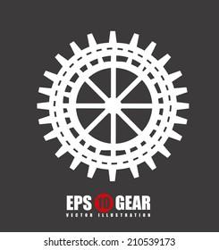 gears design over gray background vector illustration