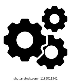 Gears in engagement giving meaning to engineering icon concept