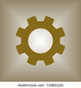 Gears icon. Flat design.