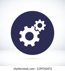 gears icon, stock vector illustration flat design style