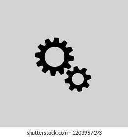 gears icon, stock vector illustration flat design style