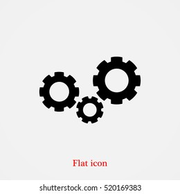 gears icon, vector best flat icon, EPS