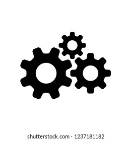 Gears icon vector, icons eps10