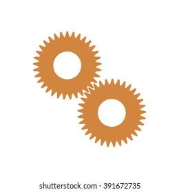 gears icon vector illustration. Flat design style