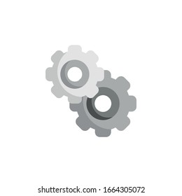 Gears icons. Symbol of settings. Vector illustration.