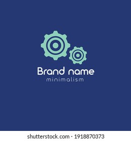 gears logo concept. Designed for your web site design, logo, app, UI. corporate identity logo for your brand. minimalism vector illustration.
