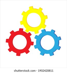 gears, mechanism, color, vector illustration on white background