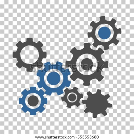 gears mechanism icon vector pictogram style stock vector royalty