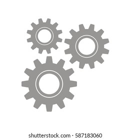 Gears on a white background. Vector illustration