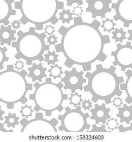 Gears, seamless pattern. Vector illustration