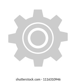 Gears settings icon - Cogwheel gear mechanism vector settings vector icon