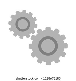 Gears settings icon - Cogwheel gear mechanism vector settings vector icon