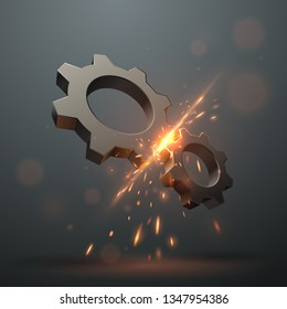 Gears with sparks