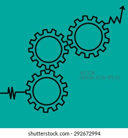 Gears symbol. Concept of PDCA method as quality continuius process improvement tool.