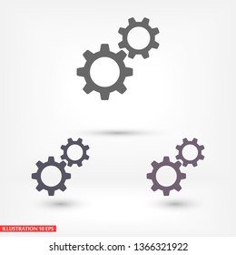 Gears   vector icon