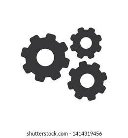 Gears vector icon in modern design style for web site and mobile app