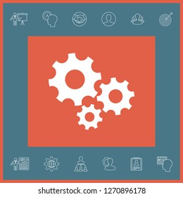 Gears wheel - Settings icon. Graphic elements for your design