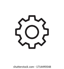 Gear/settings icon on white background