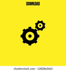 gearwheels couple icon vector. gearwheels couple vector graphic illustration
