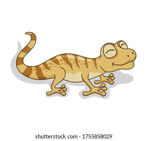 Gecko Cartoon Isolated Vector Image