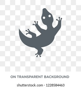 Gecko icon. Trendy flat vector Gecko icon on transparent background from animals  collection. High quality filled Gecko symbol use for web and mobile