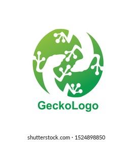 gecko logo icon design template