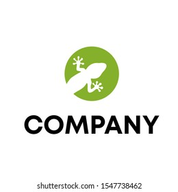 gecko logo vector design template sign
