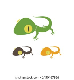 Gecko logo vector icon illustration template