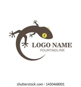 Gecko logo vector icon illustration template