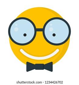 geek with bow tie, emoji