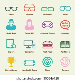 geek elements, vector infographic icons